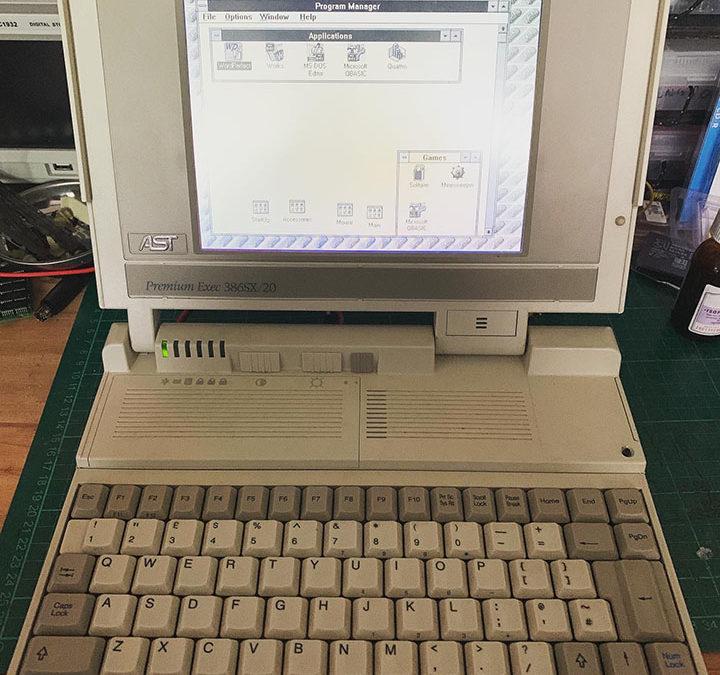 AST 386 laptop resurrection