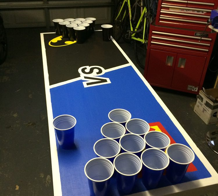Ultimate Superman / Batman Beer Pong Table