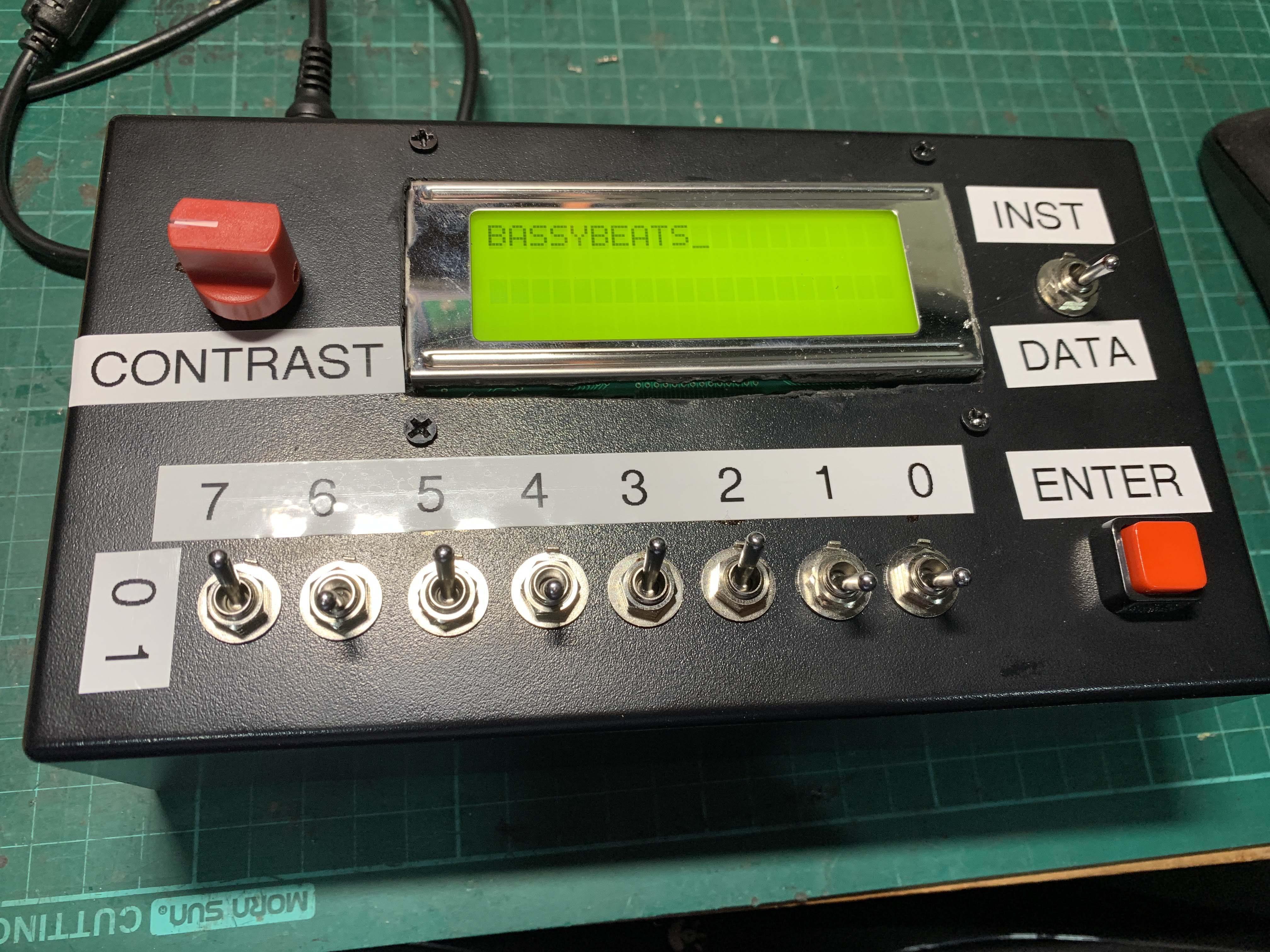 LCD ASCII Binary learning box