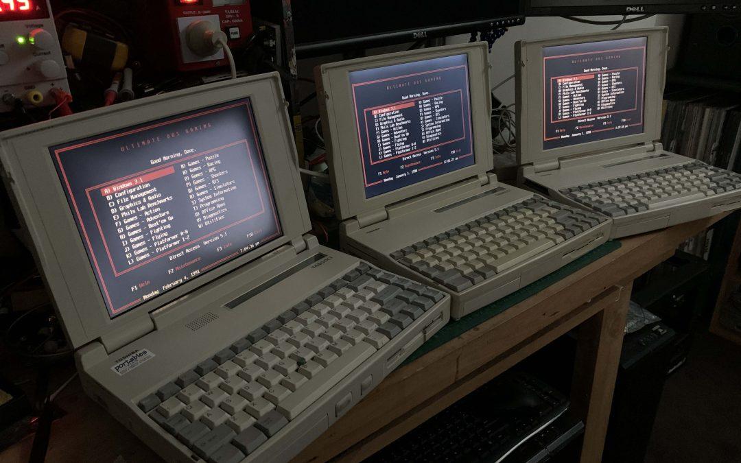 Restoring some Toshiba 486 & Pentium Laptops